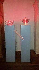 Schilderklare Decoratieve zuil / sokkel / pilaar / van MDF met  ledverlichting.