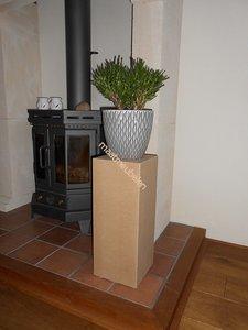 Schilderklare Decoratieve zuil / sokkel / pilaar / plantenzuil van MDF elke afmeting leverbaar