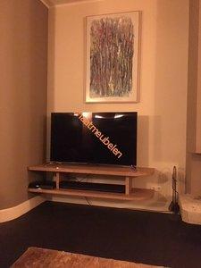 Zwevend TV Meubel, zwevende TV duo plank op maat.