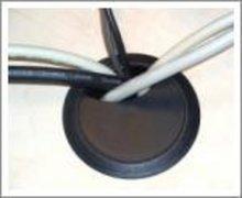 60 mm Kabeldoorvoer Zwart